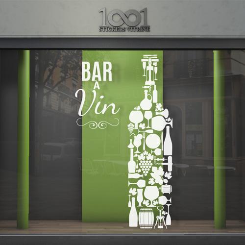 Sticker vitrine bar  vin  1001StickersVitrinecom