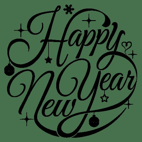 Sticker vitrine happy new year