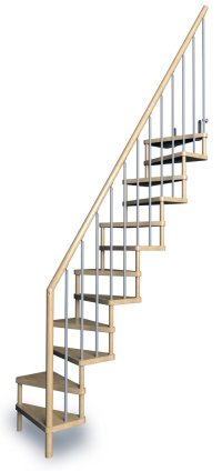 "Space Saver Staircase Type ""Torino"" - l00l Stairs"