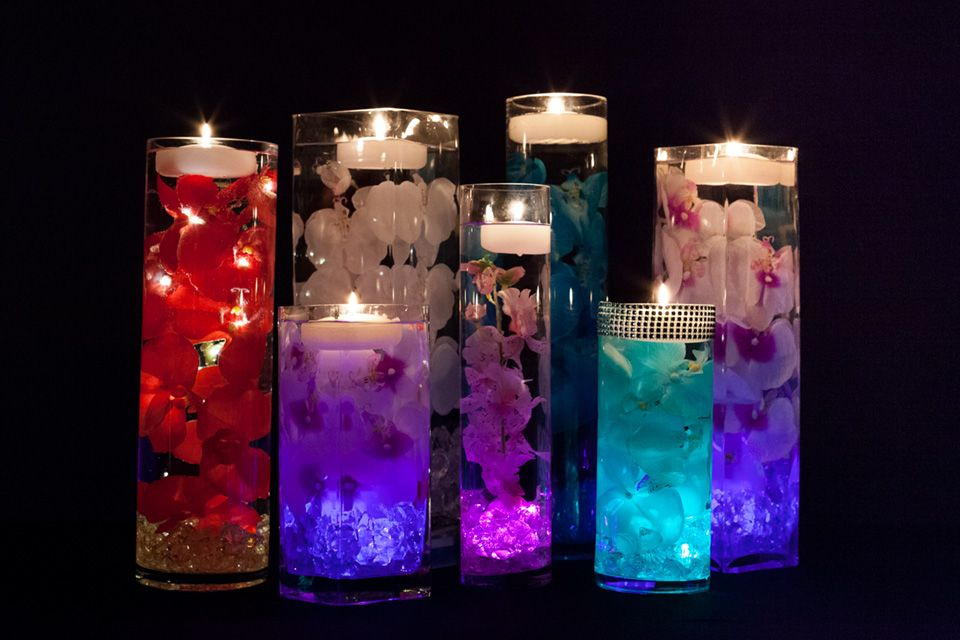 Tealight Candles In Water