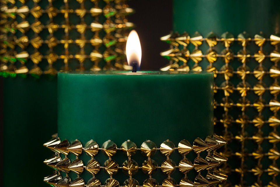 Green & Gold Emerald City Centerpiece Ideas