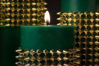 Green & Gold Emerald City Centerpiece Ideas