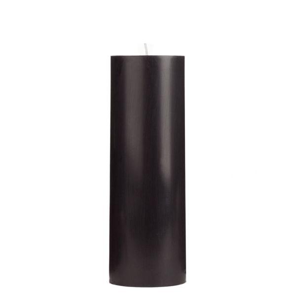Black Pillar Candle