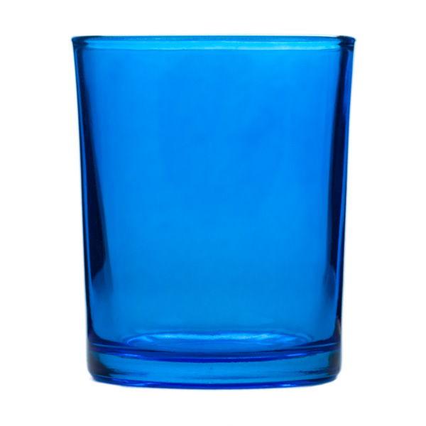 Dark Blue Glass Votive Candle Holder