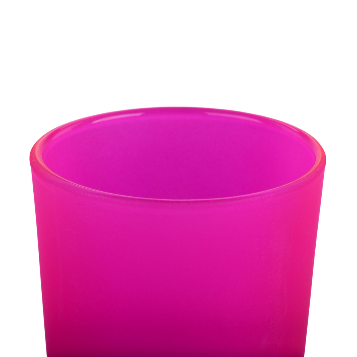 Frosted Hot Pink Glass Votive Cup