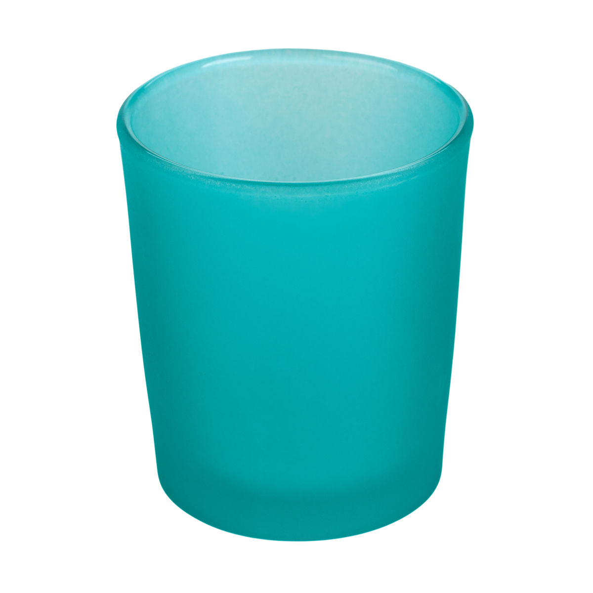 Frosted Tiffany Blue Glass Votive Cup