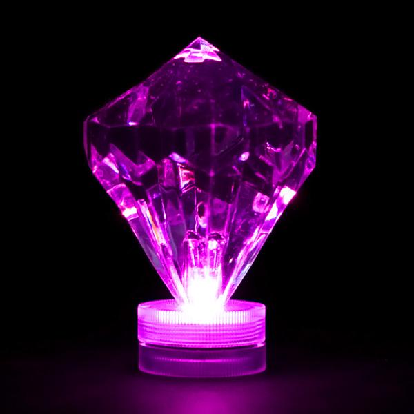 Cute Rhinestone Wallpaper Purple Submersible Diamond Led Light