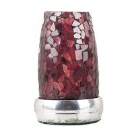 Vintage Purple Glass Mosaic Candle Holder