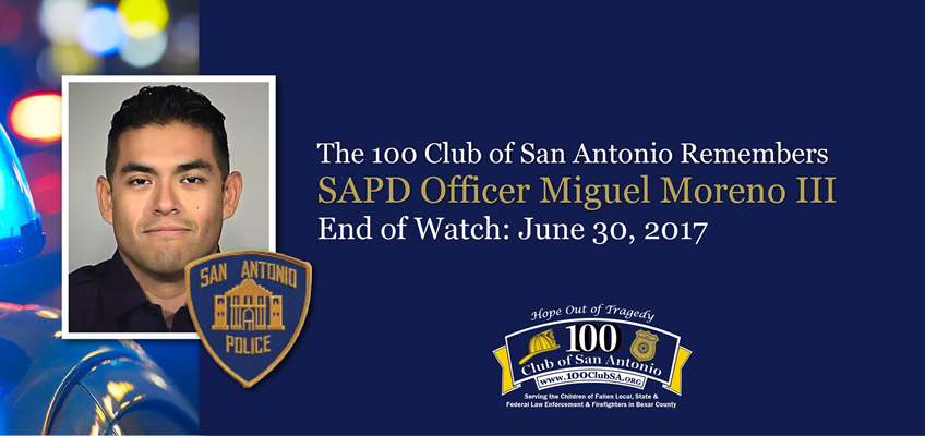 Police Officer Miguel I  Moreno - 100 Club of San Antonio