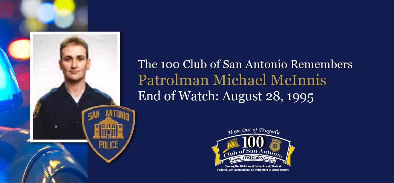 Patrolman Michael Corey Mcinnis 100 Club Of San Antonio