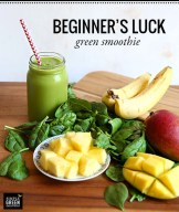 Beginner's Luck green smoothie From 100daysofrealfood.com