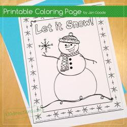 Snowman Coloring Page And Printable Gift Tags