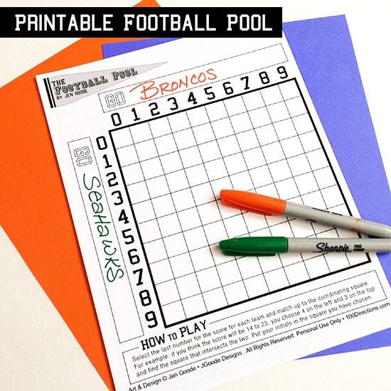 Epic image in printable football pool