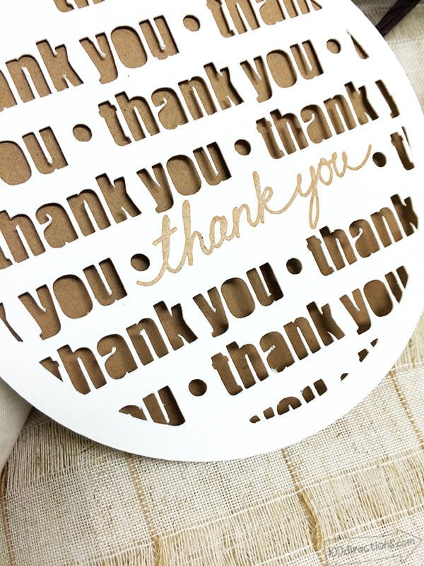 Download Thank You Card made with Cricut - 100 Directions