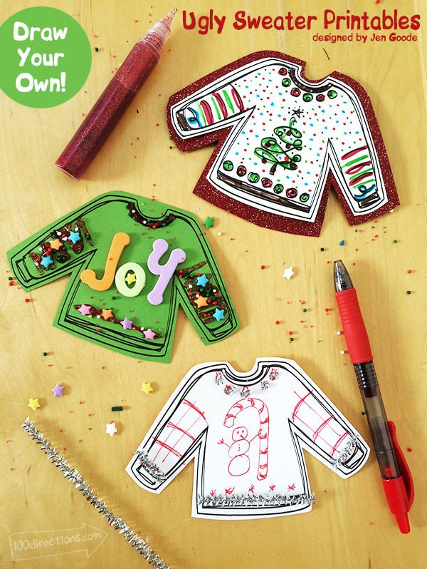 ugly sweaters printable for your ugly sweater party