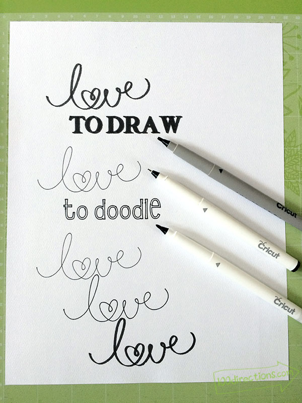 how to create different pen strokes