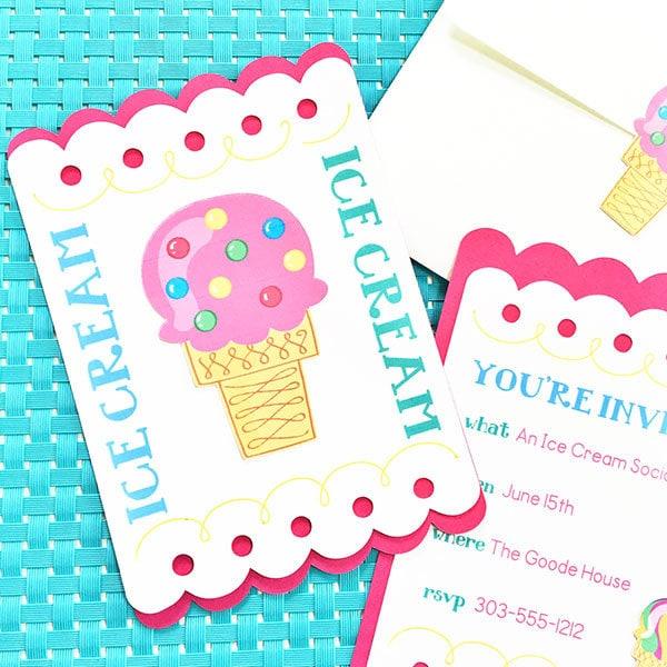 diy ice cream party invitations 100