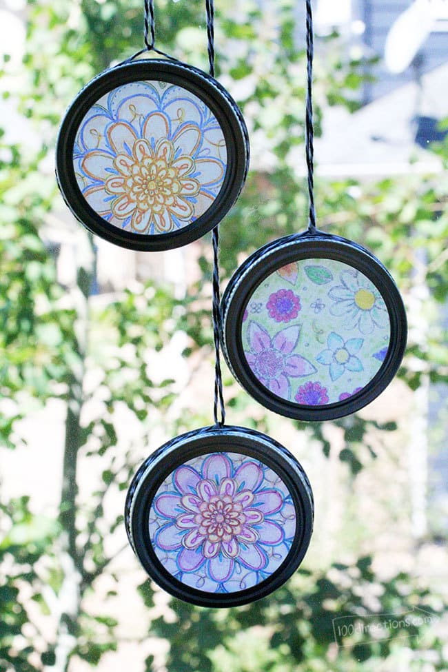 Easy Sun Catchers with Coloring Pages 100 Directions