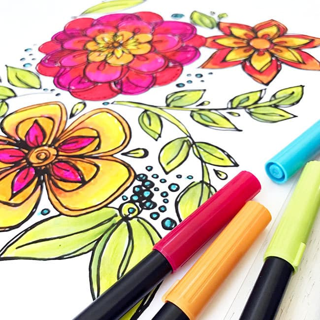Cinco De Mayo Inspired Flower Coloring Page Designed By Jen Goode Color This Fun