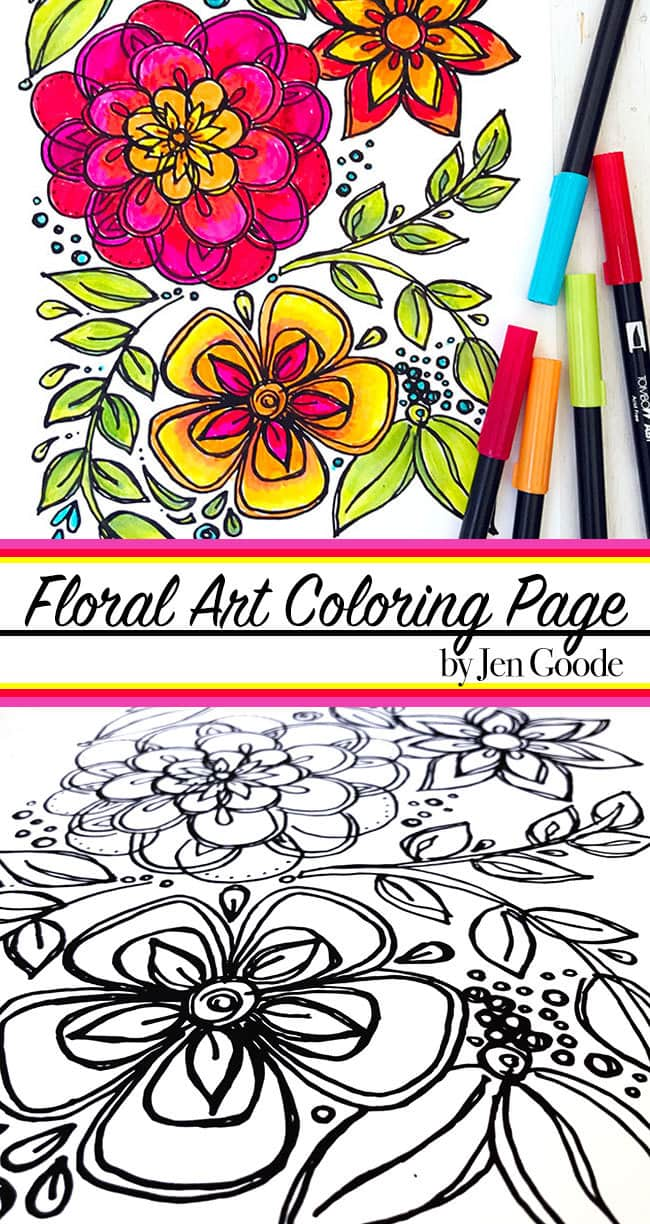 cinco de mayo inspired flower coloring page 100 directions