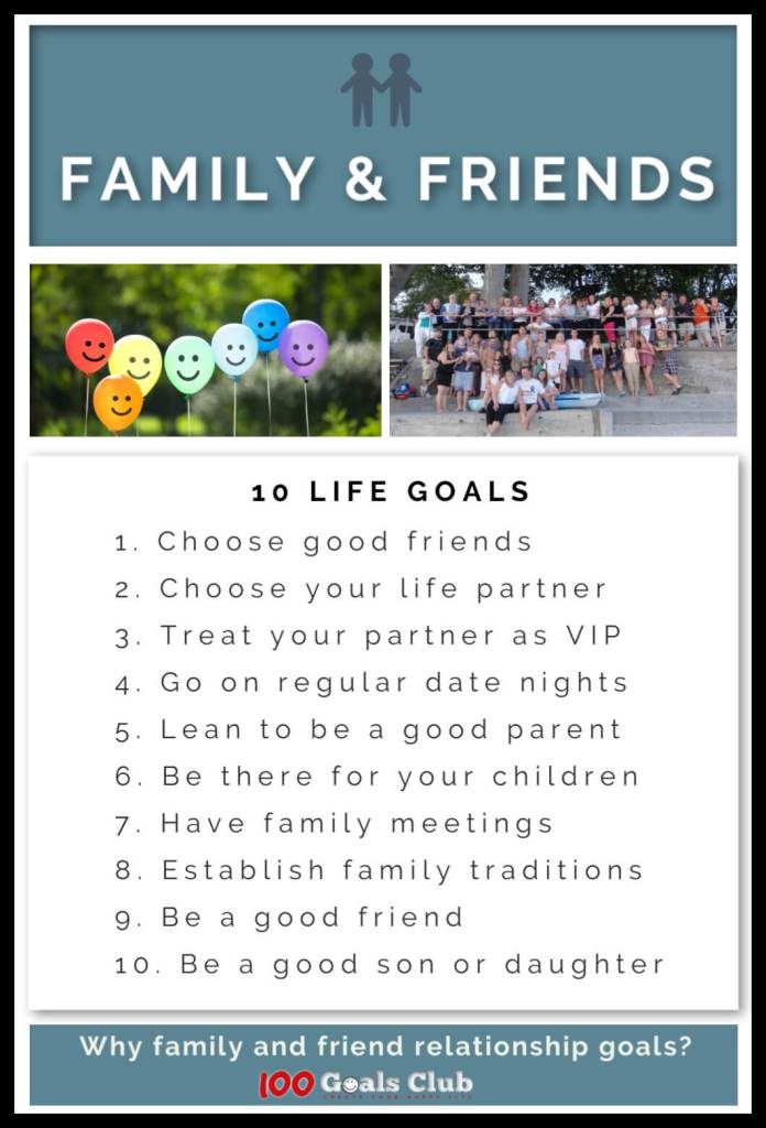 10 Relationship Goals For Friends Family 100 Life Goals