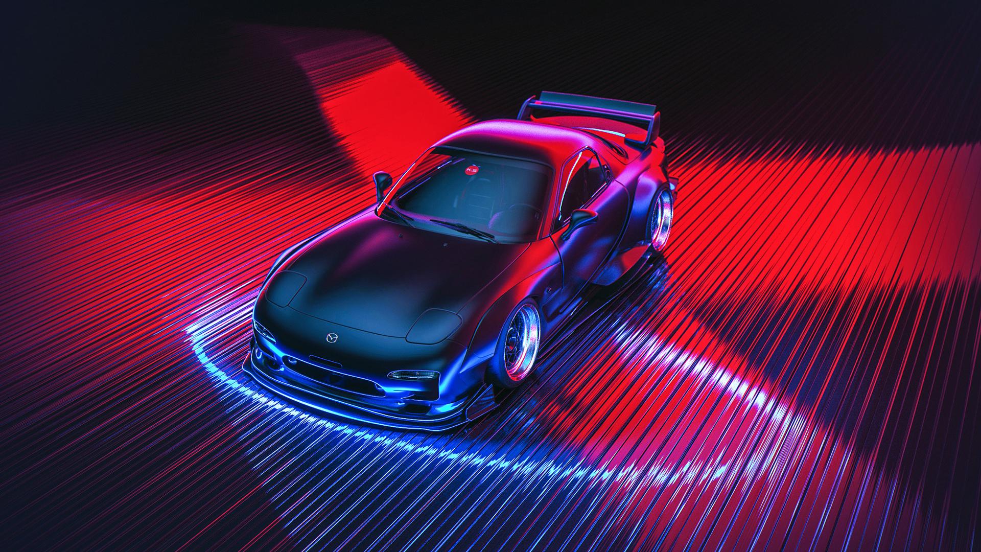 3d Car Wallpaper Apk Mazda Neon Car Wallpapers Wallpapers Hd