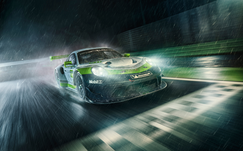 Race Car Anime Wallpaper 2019 Porsche 911 Gt3 R Wallpapers Wallpapers Hd