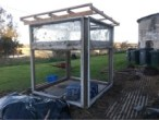 Building the new greenhouse.