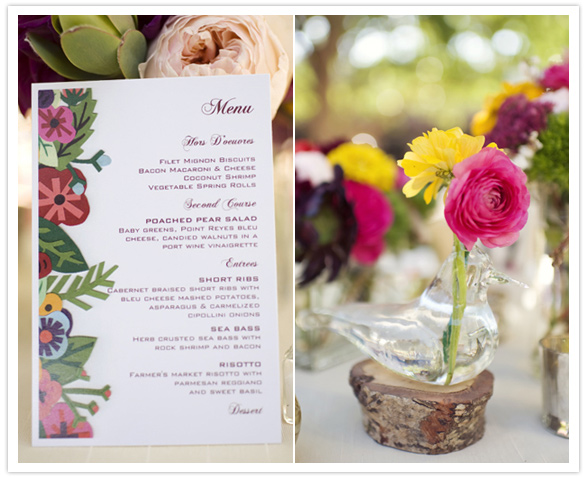 illustrated wedding menu