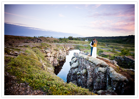 iceland sunset engagement session