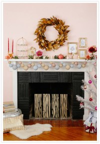 Modern holiday mantel ideas | Home & Living | 100 Layer Cake