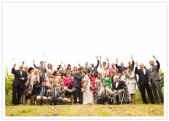 fun wedding group photo