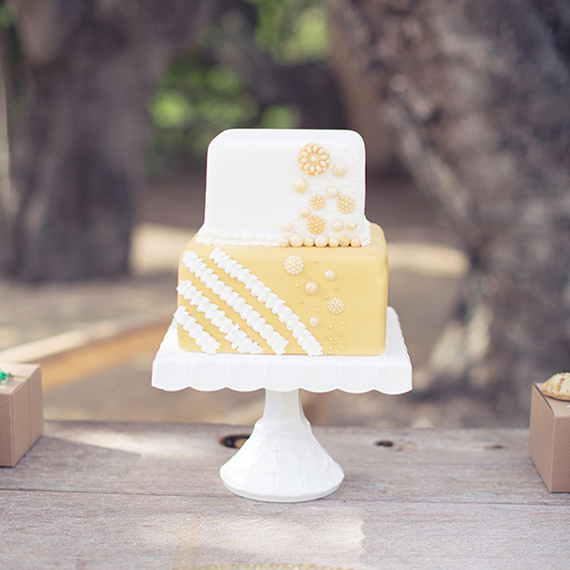 Yellow and white wedding cake | photo by This Love of Yours | 100 Layer Cake