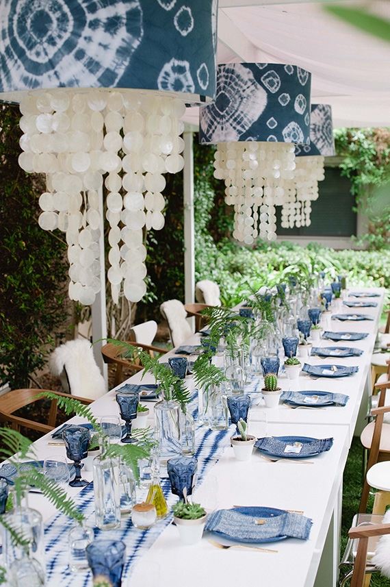 Indigo Inspired Bridal Shower Indigo Themed Party 100