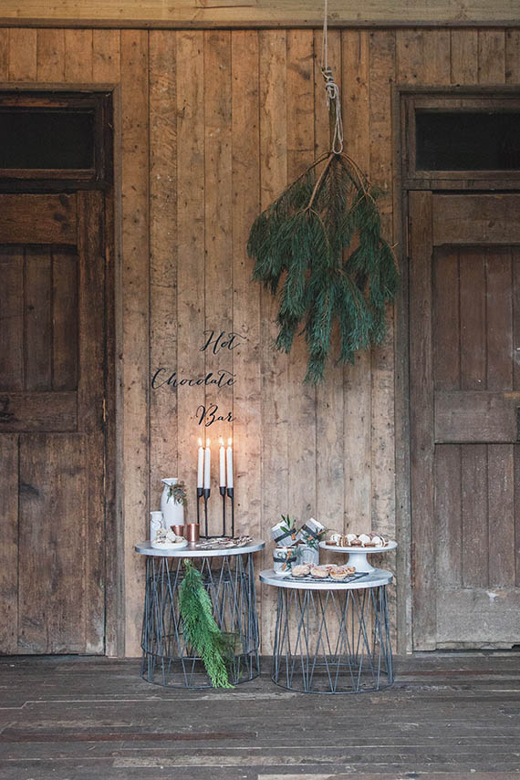 Scandinavian winter wedding ideas  Rustic decor  100 Layer Cake