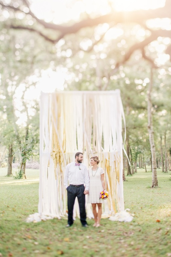 DIY crepe paper floral summer wedding ideas  100 Layer Cake
