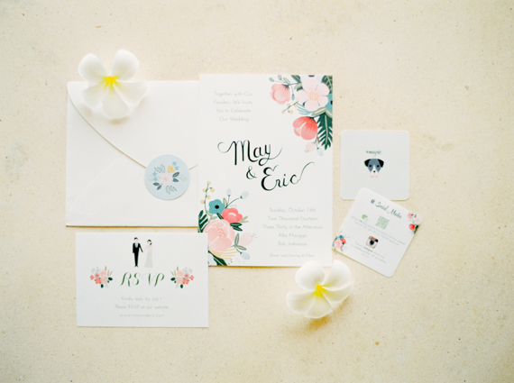 Diy Bali Wedding Invitation Photo By Caught The Light