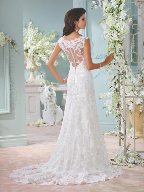 David Tutera for Mon Cheri wedding dresses  100 Layer Cake