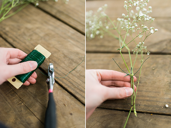 Flower Crown DIY Babys Breath Mini Bouquet Do It Yourself Projects Assembly