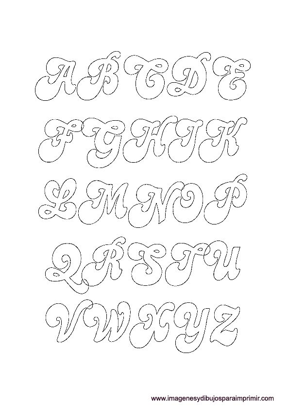 Moldes De Letras Para Imprimir Nocturnar Letras T