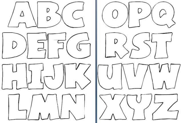 Moldes letras abecedario grandes para imprimir...