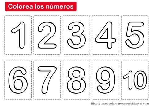 Números para imprimir y pintar. Aprender los números puede ser más fácil si ...