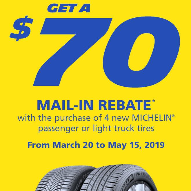 Michelin Canada Spring 2019 Tire Rebates