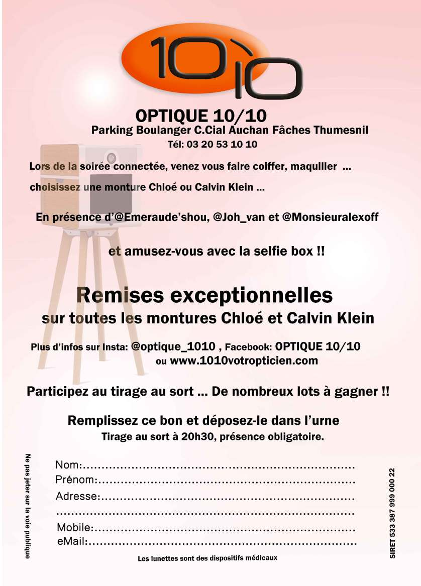 SOIREE CONNECTEE OPTIQUE 10/10-Fâches Thumesnil