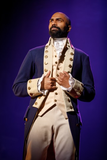 Hamilton Joseph Morales and Nik Walker will lead the second national tour of Hamilton as Alexander Hamilton and Aaron Burr, respectively. Other principal roles in Hamilton will be played by Ta'Rea Campbell as Angelica Schuyler; Marcus Choi as George Washington; Elijah Malcomb as John Laurens/Phillip Schuyler; Shoba Narayan as Eliza Hamilton; Fergie L. Philippe as Hercules Mulligan/James Madison; Kyle Scatliffe as Marquis de Lafayette/Thomas Jefferson; Danielle Sostre as Peggy Schuyler/Maria Reynolds and Jon Patrick Walker as King George. The second national tour also includes Tia Altinay, Amber Ardolino, Conroe Brooks, Cameron Burke, Evan S. Cochran, Phil Colgan, Desmond Sean Eillington, Hope Endrenyi, Lili Froehlich, Daniel Gaymon, Camden Gonzales, Jennie Harney, Stephen Hernandez, Kristen Hoagland, Abby Jaros, Emily Jenda, Wonza Johnson, King David Jones, Carina-Kay Louchiey, Brandt Martinez, Taeko McCarroll, Tyler McKenzie, Justice Moore, Antuan Magic Raimone, Julian Ramos, Jen Sese, Willie Smith III, and Julius Thomas III.