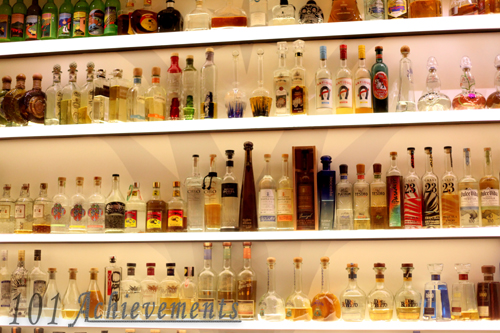 Verde's Wall of Tequila