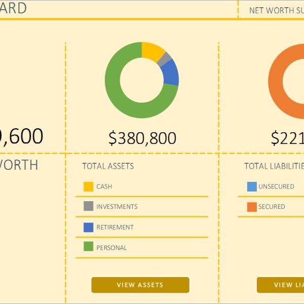 personal net worth calculator