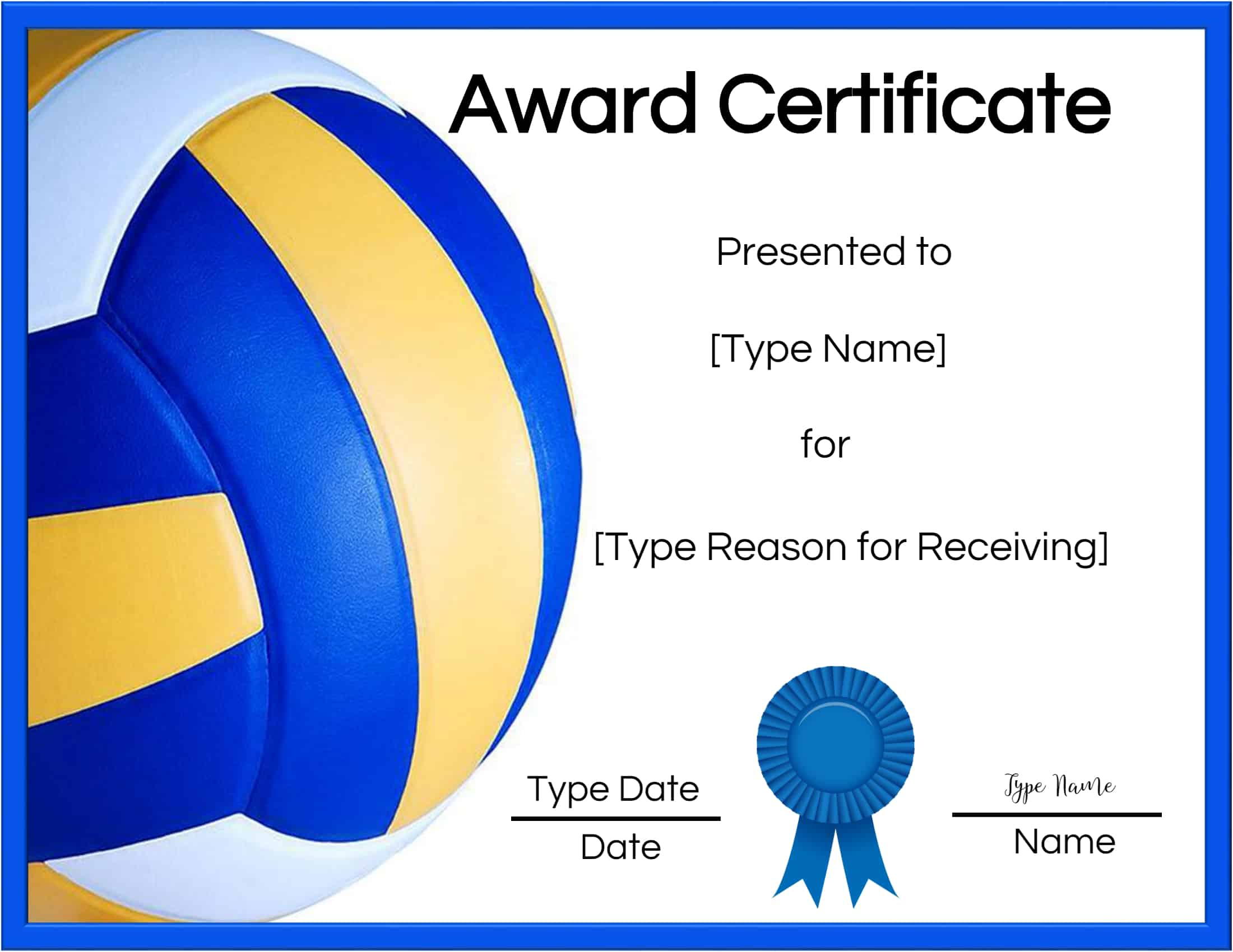 templates certificate