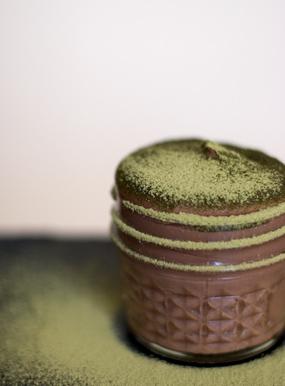 Chocolate and Green Tea Pudding