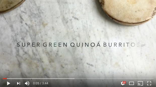 Green Vegan Quinoa Burrito Video